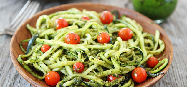 Zucchini-Noodles-with-Pesto