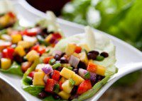 Black Bean and Mango Salsa Lettuce Wraps