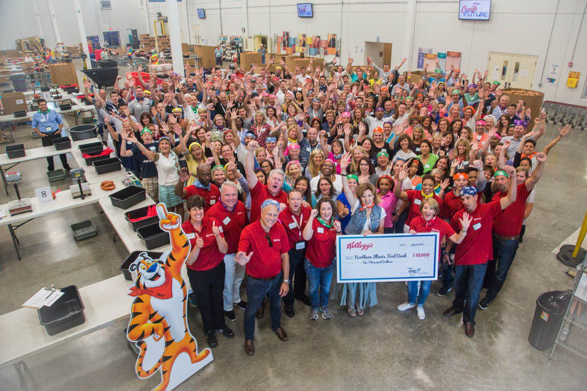 Kellogg volunteering with 241 team members