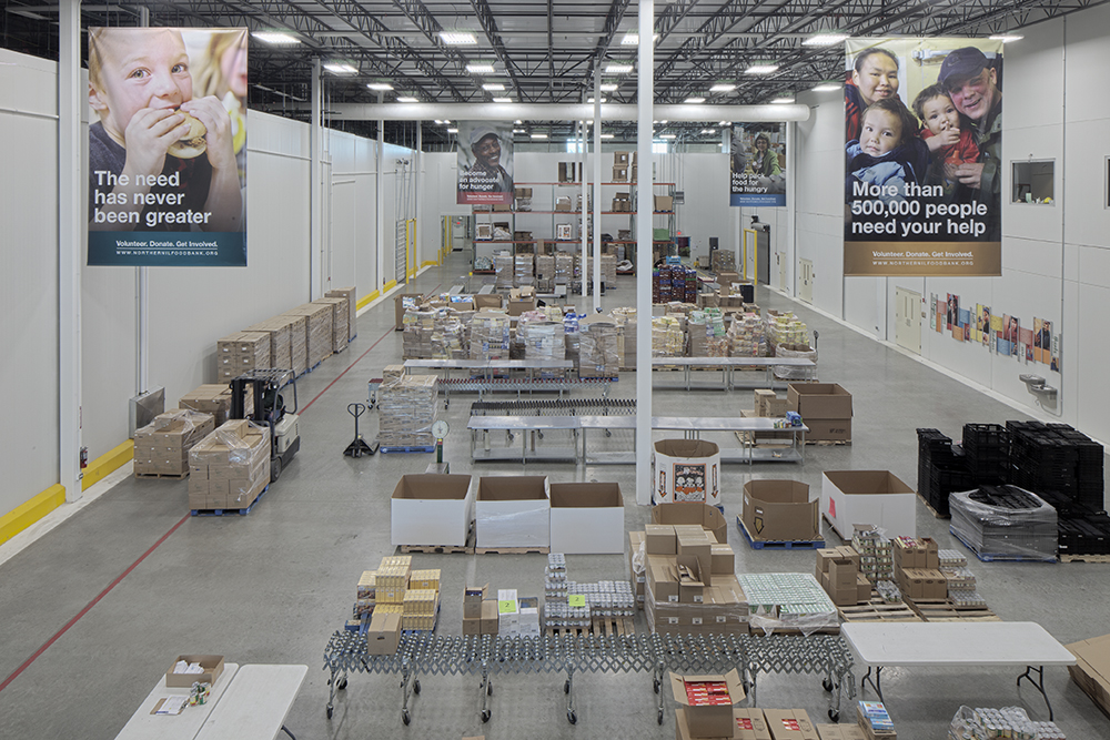 Northern Illinois Food Bank main campus - West Suburban Center distribution area