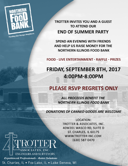 Trotter's End Of Summer Party - spend an evening with friends and help us raise money for Northern Illinois Food Bank
