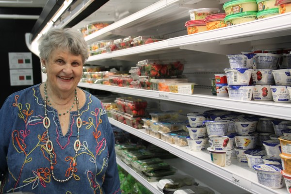 Lois in food pantry
