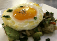 Baked Egg with Avocado Salad