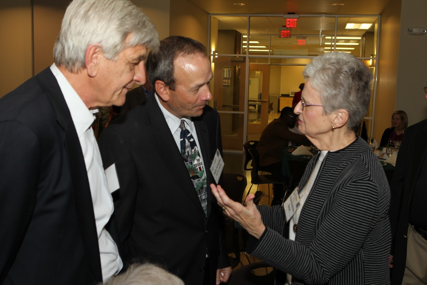 Sister Rosemarie at West Suburban Center opening, 2011